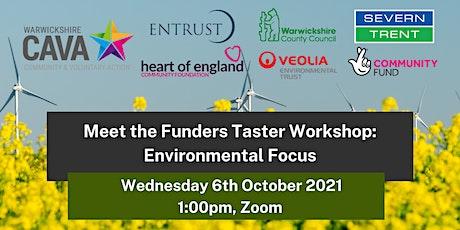 Meet the Funders Taster Workshop: Environmental Focus tickets