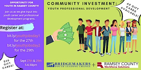 Community Investment: Youth Employment in Ramsey County (Day 1) tickets