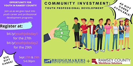 Community Investment: Youth Employment in Ramsey County (Day 2) tickets