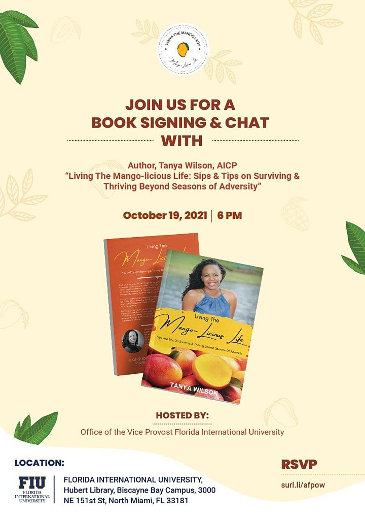 Free Book Signing, Living The Mango-Licious Life by Author Tanya Wilson image