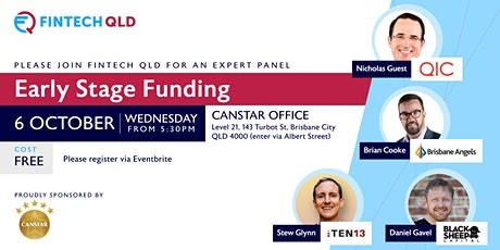 FinTech QLD Panel on Early Stage Funding tickets