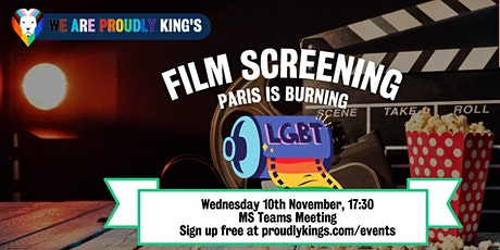 Education Event: Paris is burning screening tickets