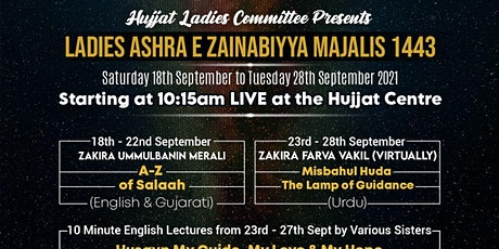 Day 3 (20/09/2021) - Ladies Only Morning Majlis 1443/2021 tickets