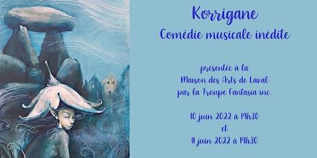 Korrigane, comédie musicale à Laval tickets