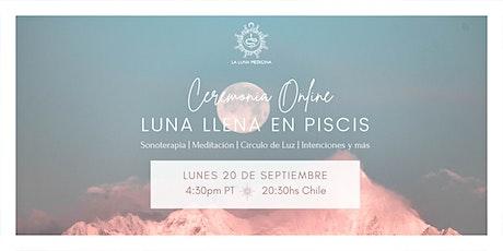 Ceremonia Online de Luna Llena en Piscis boletos