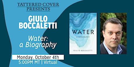 Live Stream with Giulio Boccaletti tickets
