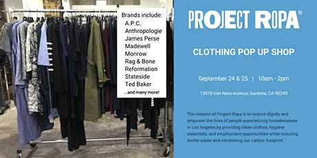 Project Ropa Clothing Pop Up Shop tickets