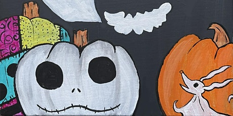 This is Halloween! - Wine and paint tickets