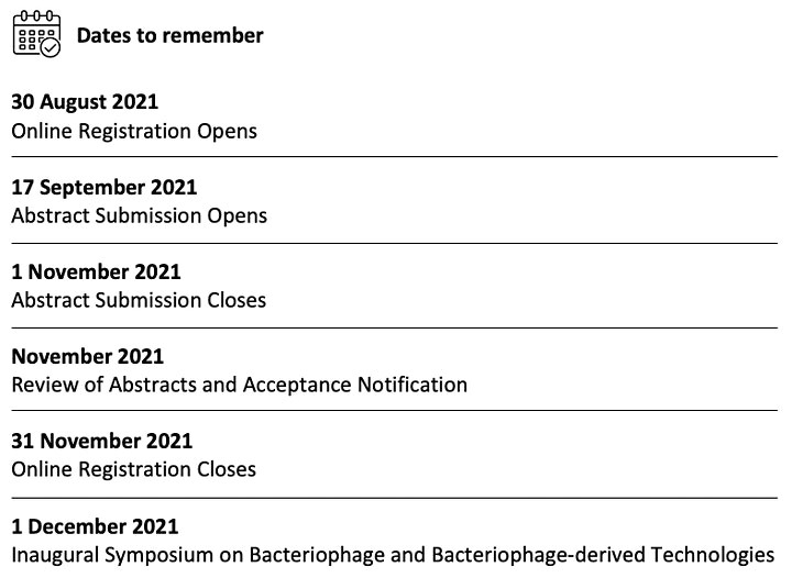 Inaugural Symposium on Bacteriophage and Bacteriophage-derived Technologies image
