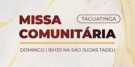 Missa Comunitária ComShalom: Missão Taguatinga - 19/09 ingressos