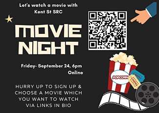 Movie Night with Kent St SRC  - Friday 24/09 6pm tickets