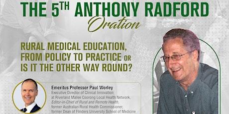 The 5th Anthony Radford Oration tickets