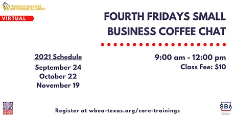 Fourth Fridays Small Business Coffee Chat tickets