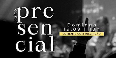 Culto presencial  - 19.09.21   MPV Curitiba ingressos
