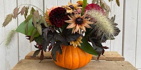Thanksgiving/Fall Floral Pumpkin Centerpiece tickets