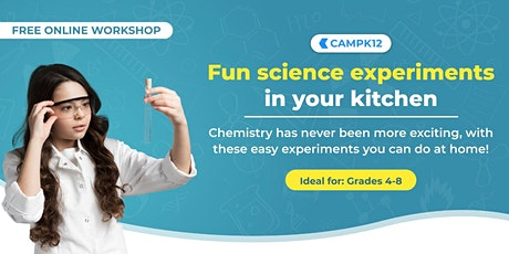 Workshop for Kids & Parents: Exciting Science Experiments at Home! tickets