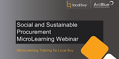 Social and Sustainable Procurement MicroLearning Webinar tickets