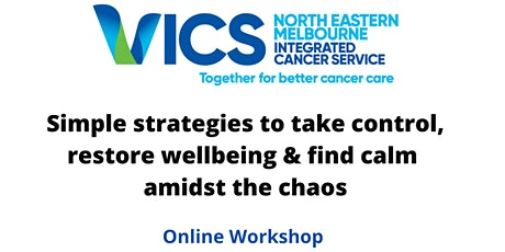 Simple strategies to take control, restore wellbeing and find calm tickets