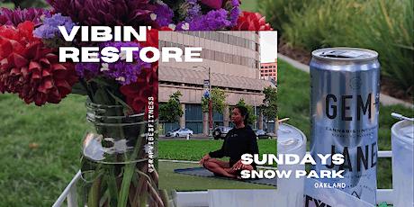 VIBINrestore Outdoor: A one hour restorative yoga experience tickets