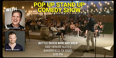 Pop Up Stand Up Comedy Live at Bottleshock Wine and Brew tickets