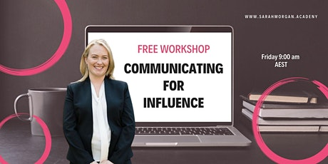 Communicating for Influence tickets
