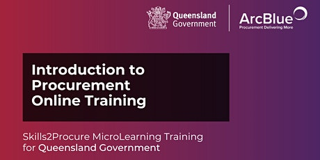 Introduction to Procurement Online Webinar for QLD Government tickets