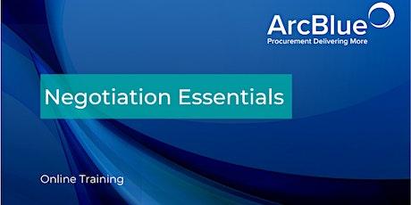 Negotiation Essentials Online Training tickets