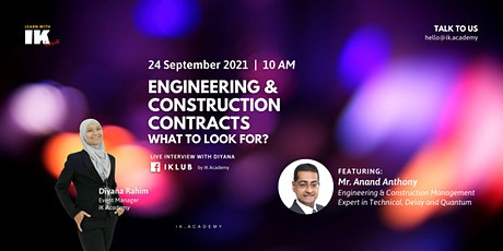 Engineering & Construction Contracts: What to look for? tickets