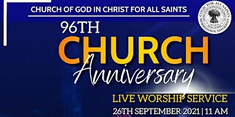 96th COGICFAS Church Anniversary tickets