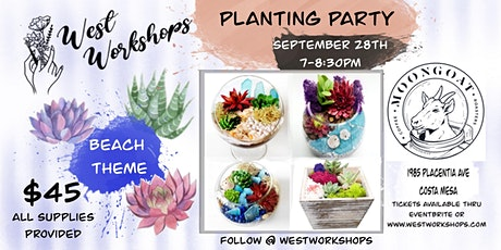 Plant Party - Choose your own Succulent Garden - Moongoat Coffee tickets