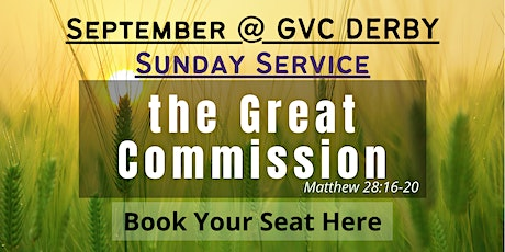 GVC Derby Sunday Service | 19th September 2021 | 10:00am-12:30pm tickets
