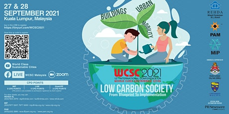 12TH INTERNATIONAL CONFERENCE ON WORLD CLASS SUSTAINABLE CITIES (WCSC) 2021 tickets