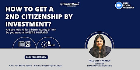 FREE Webinar: How to get a 2nd Citizenship by Investment? tickets
