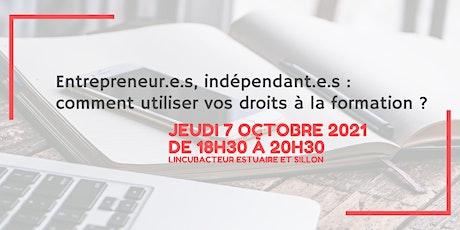 Entrepreneur·e·s, comment utilisez vos droits à la formation ? billets