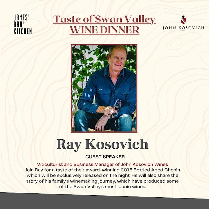 Taste of Swan Valley WINE DINNER with John Kosovich Wines image