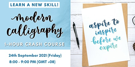Modern Calligraphy 1-Hour Crash Course tickets