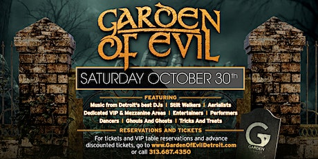 Garden Of Evil on Saturday, October 30th at The Garden Theater! tickets