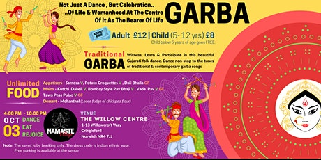 Navratri Garba Dance Night | Unlimited Food | Sun, 3rd Oct 2021| Norwich` tickets