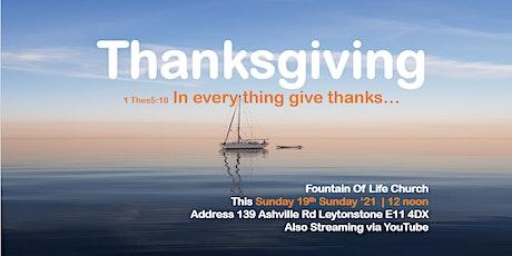Thanksgiving tickets