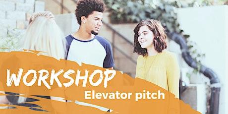 Workshop - Elevator pitch tickets