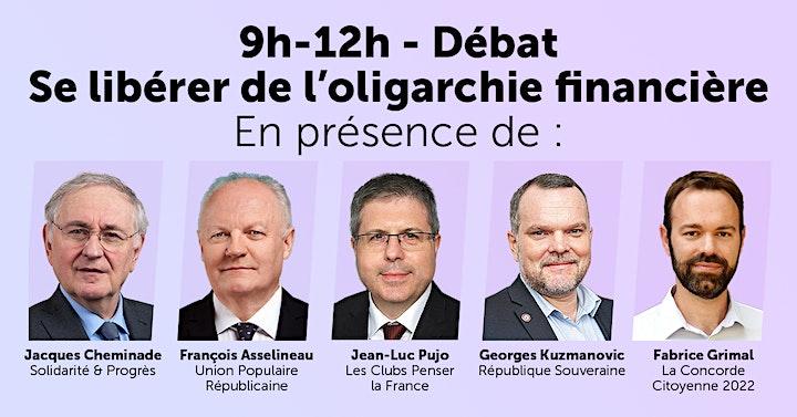 """Débat politique : """"Se libérer de l'oligarchie financière !"""" image"""
