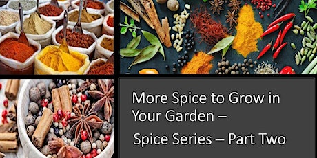 More Spice to Grow in Your Garden - Part 2 in Growing Spice Series tickets