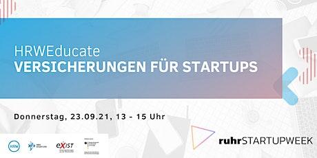 HRWEducate: Versicherungen für StartUps Tickets