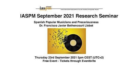 IASPM Sept 2021 Research Seminar tickets