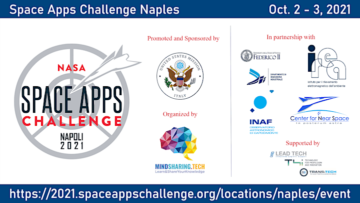 NASA Space Apps Rome / Naples 2021 - Bootcamp image