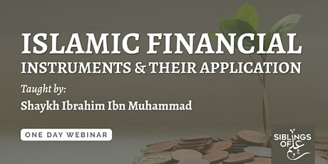 Islamic Financial Instruments & Their Application tickets