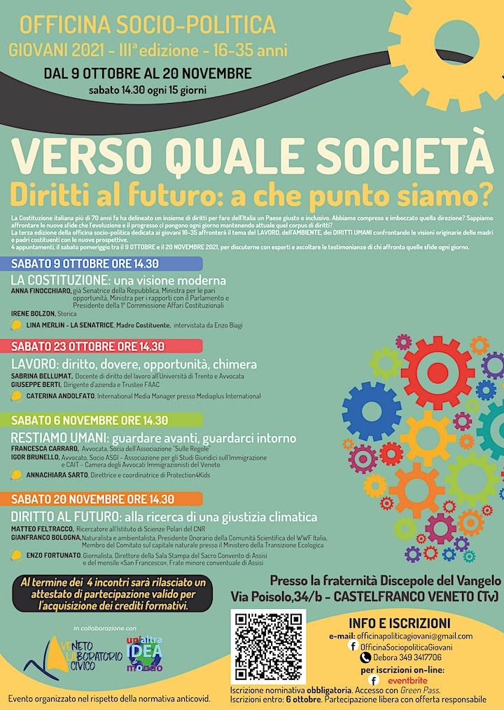 Immagine Officina sociopolitica giovani 2021: incontri singoli