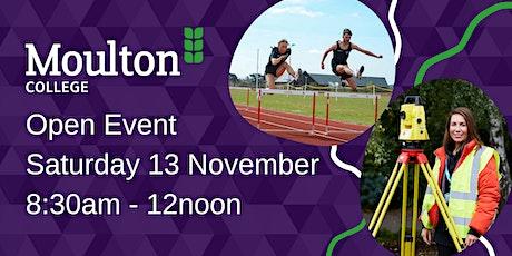 Moulton College Open Day - Saturday 13 November tickets