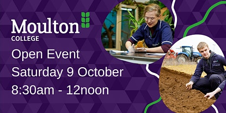 Moulton College Open Day - Higham Campus - Saturday 13 November tickets