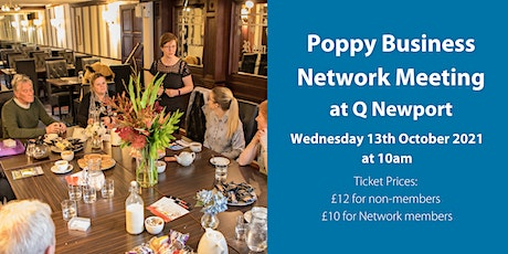 Poppy Business Network Meeting - Wednesday 13th October 2021 tickets